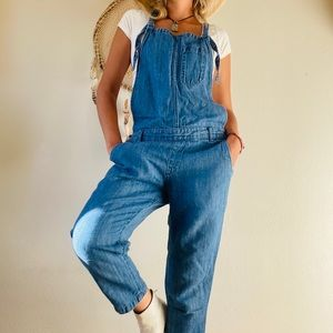 UNIQLO Linen Blended Overall Jeans Sz M